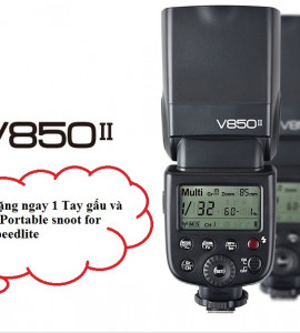 BỘ KIT FLASH GODOX VING 850II GN58 HSS FOR CANON/NIKON/PENTAX/SONY